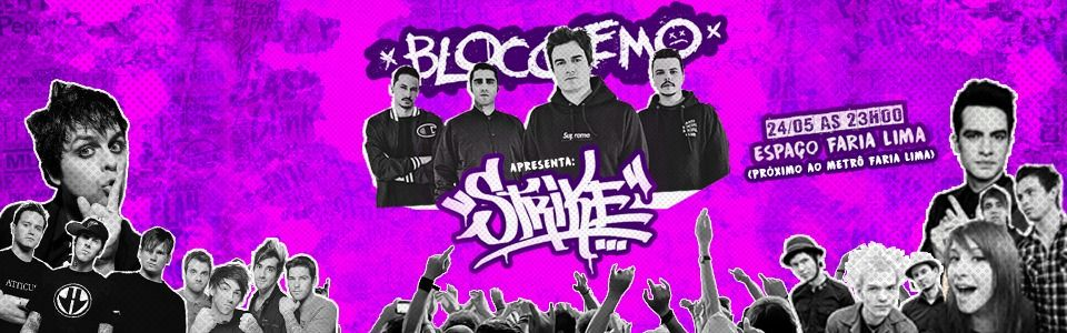 Strike Pop Punk Party por Bloco Emo