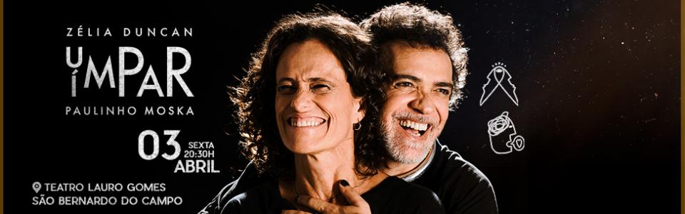 Paulinho Moska e Zélia Duncan  em São Bernardo do Campo/SP