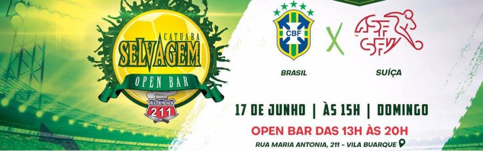 Brasil x Suíça l Open Bar