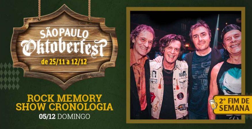 """São Paulo Oktoberfest 2021 - 05.12.2021 - """"Rock Memory – Show Cronologia"""" - Espaço Vip - Mesas Reservadas"""