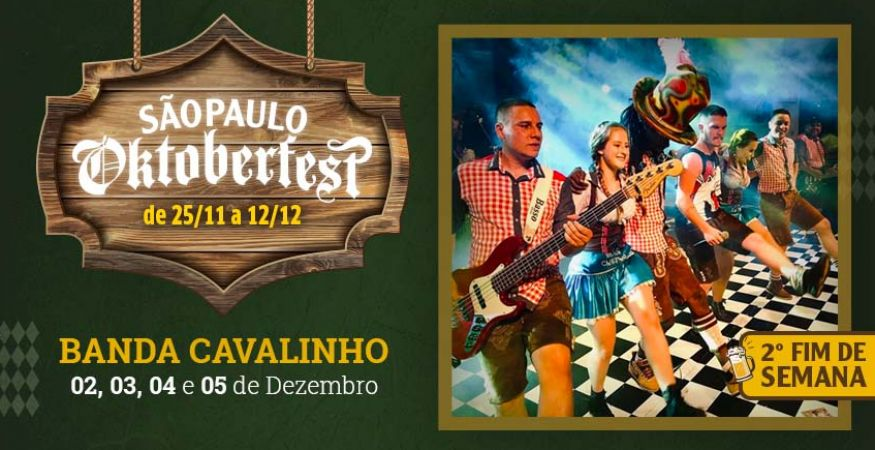 """São Paulo Oktoberfest 2021 - 02.12.2021- """"Banda Cavalinho"""" - Espaço Vip - Mesas Reservadas"""