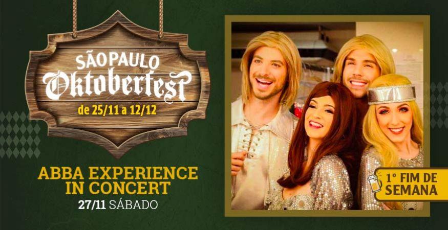 """São Paulo Oktoberfest 2021 - 27.11.2021 - """"Abba Experience In Concert"""" - Espaço Vip - Mesas Reservadas"""