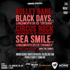Tomarock apresenta : Bullet Bane e Black Days no Rio de Janeiro/RJ