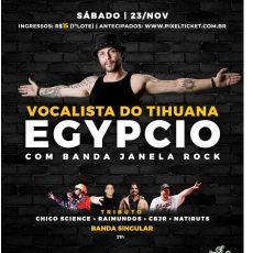 Egypcio com a Banda Janela Rock