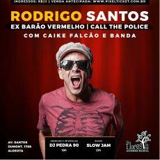 Rodrigo Santos com Caike Falcão e banda