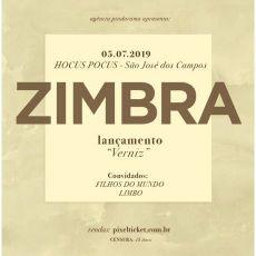 Zimbra - lançamento do cd Verniz em São José dos Campos/SP