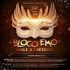Bloco Emo - Festa a Fantasia - Segunda de carnaval - Open Bar